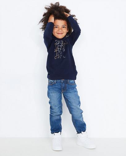 Donkerblauwe jeans